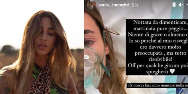 GF Vip 5, Sonia Lorenzini in ospedale per un malore