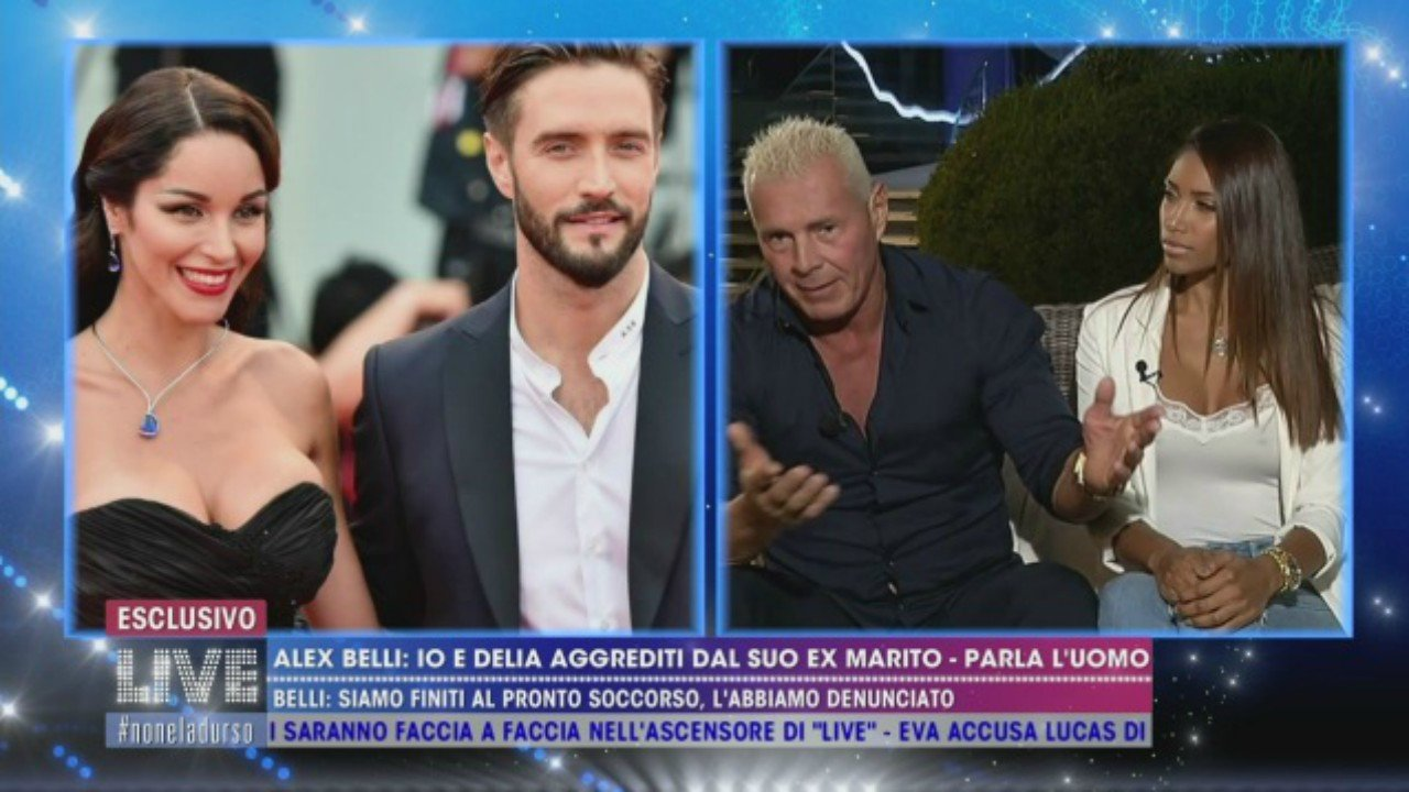 """Alex Belli e Delia Duran presi in giro e smentiti dall'ex marito di lei: """"Lui si difende a colpi di ciuffo"""""""