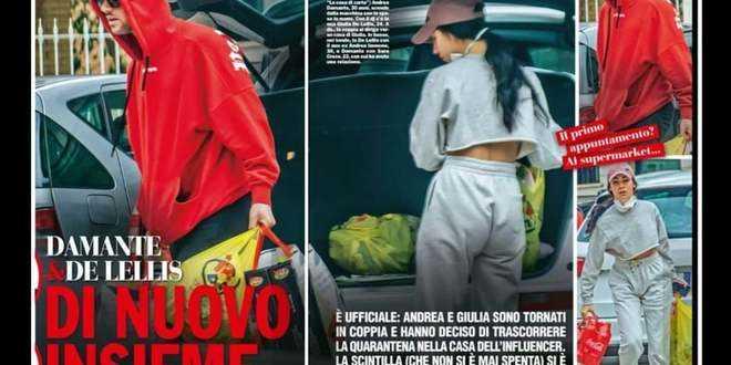 """Andrea Damante e Giulia De Lellis si vedevano in segreto: """"Chi"""" ricostruisce il ritorno di fiamma"""