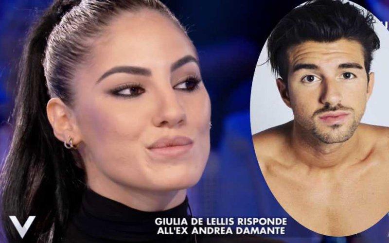 Uomini e Donne gossip, Andrea Damante risponde (a modo suo) alle parole di Giulia De Lellis