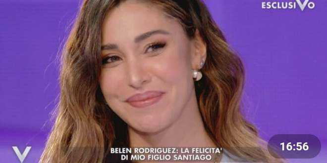 """Belen Rodriguez a """"Verissimo"""": la bimba in arrivo, il nome scelto e il dramma dell'aborto"""