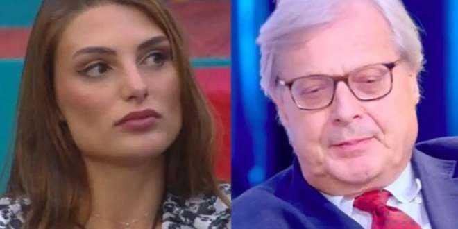 "GF Vip 5, Vittorio Sgarbi umilia Franceska Pepe: ""Mi hai toccato l'uccel*o!"""