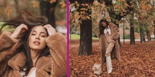Giulia De Lellis posa in semi-topless sotto il teddy-bear: è polemica social