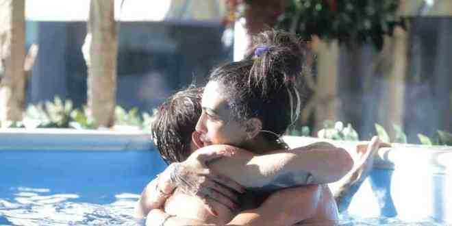 Gf Vip, scocca il bacio tra Manuel Bortuzzo e Lulù Selassie