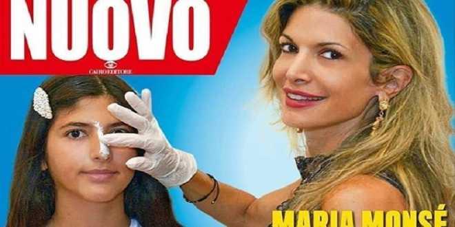 Maria Monsè porta la figlia dal chirurgo, primo ritocchino a 14 anni ed è polemica