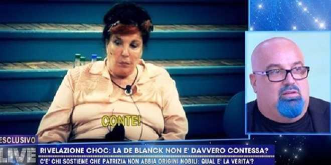 Grande Fratello Vip 5, scoppia il caso: Patrizia De Blanck non è una contessa?