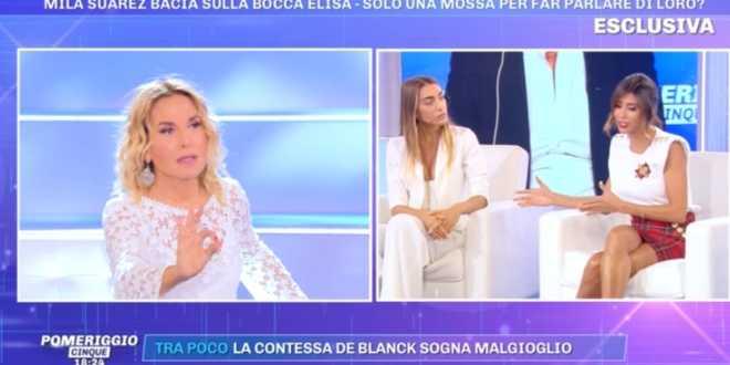 Pomeriggio 5, gravi accuse all'ex gieffine Elisa De Panicis e Mila Suarez: la confessione shock