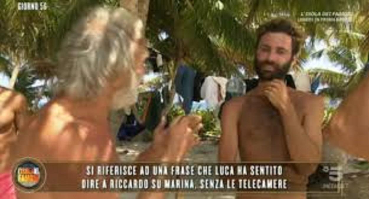 Isola dei famosi, Riccardo Fogli furioso con Luca: bugiardo e viscido