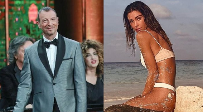 Sanremo 2020, Amadeus gela Belen Rodriguez
