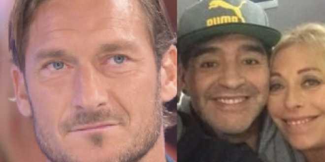 """Verissimo, Francesco Totti ricorda commosso Maradona: """"Fu il primo a sostenermi"""""""